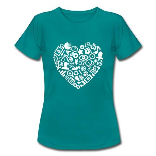 Een hart voor het onderwijs  - Vrouwen T-shirt