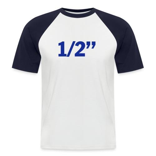 Halbzoll T-Shirt - Männer Baseball-T-Shirt
