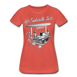 bft Tankstelle Seitz - Frauen Premium T-Shirt