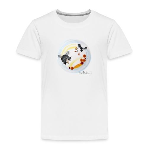 T-shirt Premium Enfant - Tee-shirt enfant Ptit mouton d'Ouessant by Sillousoune. Motif extrait du livre illustré par Sillousoune Le p'tit mouton d'Oeessant à la recherche de l'océan.