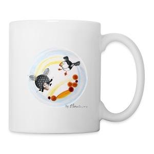 Mug blanc - Mug Ptit mouton d'Ouessant by Sillousoune. Motif extrait du livre illustré par Sillousoune Le p'tit mouton d'Ouessant à la recherche de l'océan.