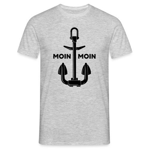Moin Moin   Anker - Männer T-Shirt
