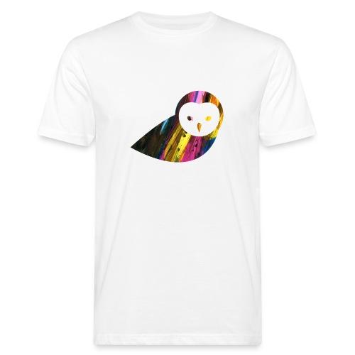 Colorbrush Owl - Männer Bio T-Shirt - Männer Bio-T-Shirt