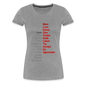 Women's More/Less t-shirt - Women's Premium T-Shirt