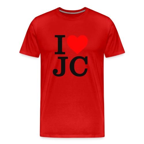 Men's I Heart JC t-shirt - Men's Premium T-Shirt