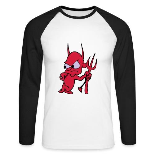 camiseta  demonio 13 - Raglán manga larga hombre