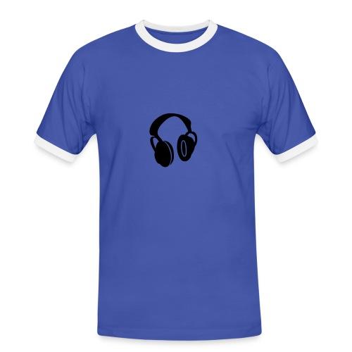 headphones - Männer Kontrast-T-Shirt
