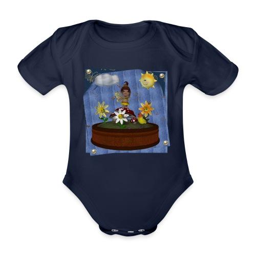 Zonnebloem Toon Baby - Organic Short-sleeved Baby Bodysuit