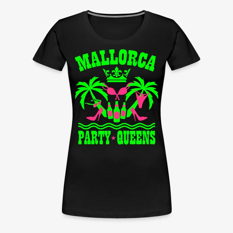 Mallorca Party Queens Malle Crew Palmen Bier T-Shirt - Frauen Premium T-Shirt