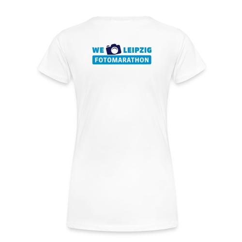 Frauen Premium T-Shirt weiß mit Rückendruck - Frauen Premium T-Shirt