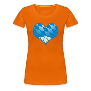 Oktoberfest Shirt mit Herz - Frauen Premium T-Shirt