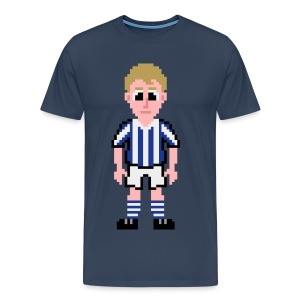 Denis Law Pixel Art T-shirt - Men's Premium T-Shirt