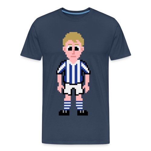 Denis Law Pixel Art T-shirt - Men's Premium T-Shirt