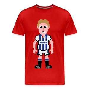 Iwan Roberts Pixel Art T-shirt - Men's Premium T-Shirt