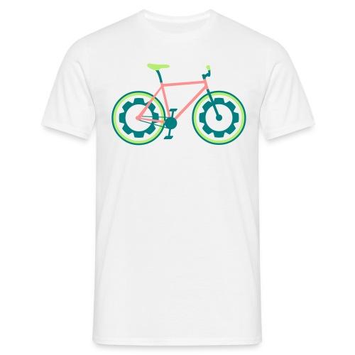 T-shirt Homme - fixie, vélo, urbain, ville, le vélo, le vélo, roue, Slim