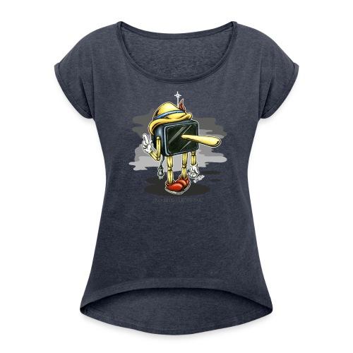 Piglotzio - Frauen T-Shirt mit gerollten Ärmeln
