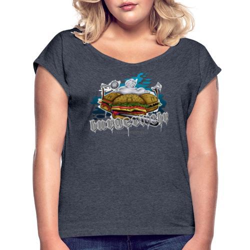 Burgerwehr - Frauen T-Shirt mit gerollten Ärmeln