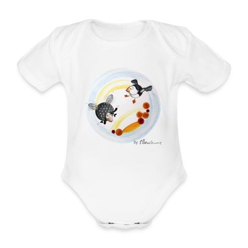 Body bébé bio manches courtes - Body bébé manches courtes Ptit mouton d'Ouessant by Sillousoune. Motif extrait du livre illustré par Sillousoune Le p'tit mouton d'Ouessant à la recherche de l'océan.
