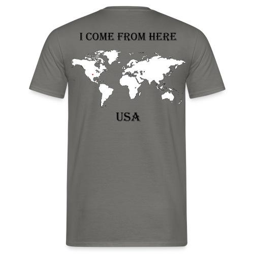 USA-blanc - T-shirt Homme