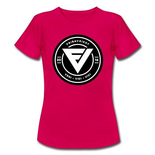 FV Lady t-paita logolla 2 (samettipainatus) - Naisten t-paita