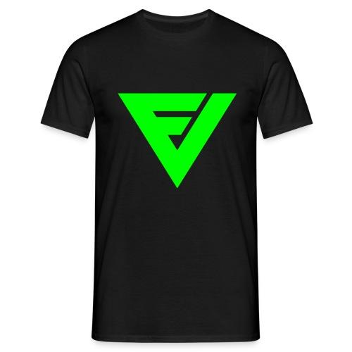 t-paita symbolilla (neon vihreä), painatus niskassa myös. - Miesten t-paita