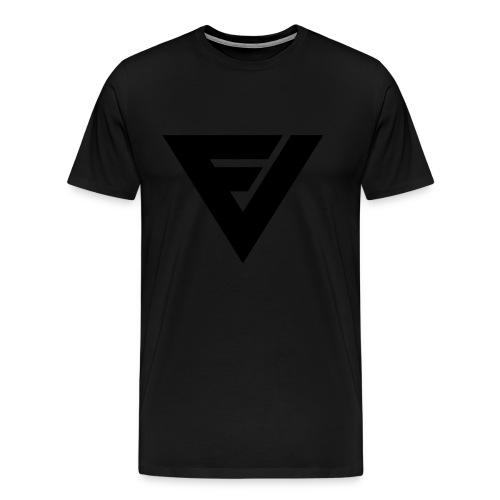 Premium t-paita symbolilla (superblack), painatus niskassa myös. - Miesten premium t-paita