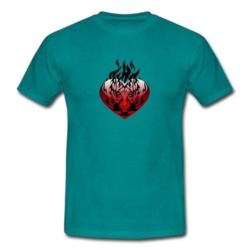 Feuriger Löwe Mann - Männer T-Shirt
