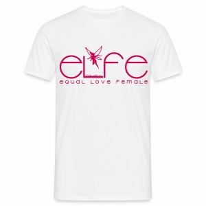 Herren T-Shirt elfe + Vielfaltslogo - Männer T-Shirt