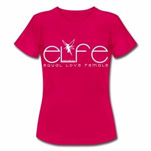 Damen T-Shirt elfe + Vielfaltslogo - Frauen T-Shirt