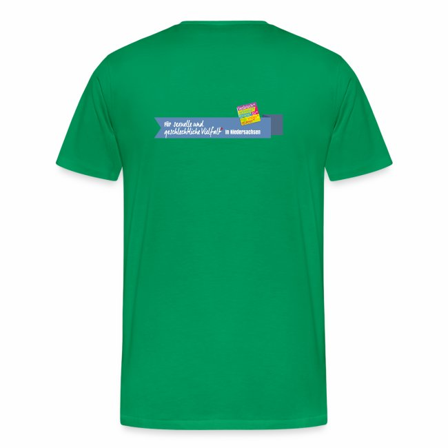 Herren T-Shirt Peergroup8 + Vielfaltslogo