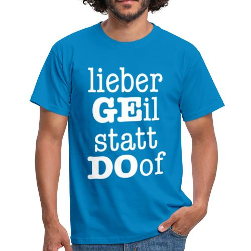 Derbyshirt GE statt DO Motiv weiß - Männer - Männer T-Shirt