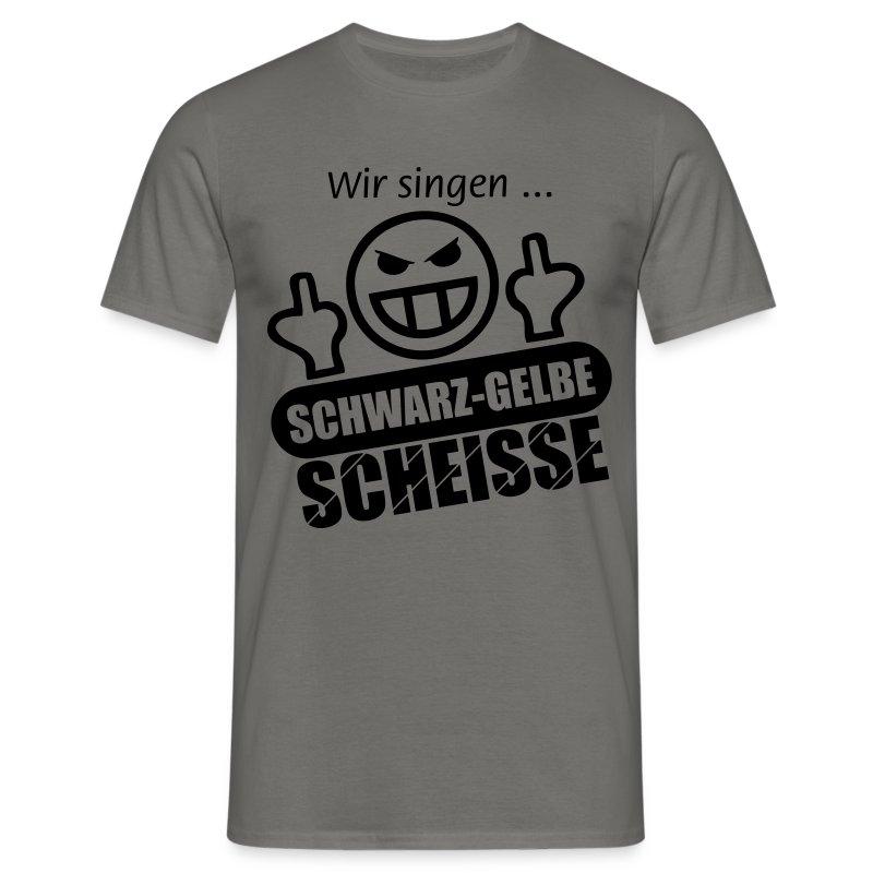Schwarzgelbe-Scheisse Motiv schwarz - Männer - Männer T-Shirt