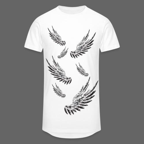 Long-T - Falling Wings (White) - Männer Urban Longshirt