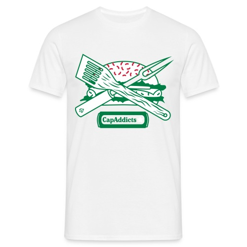 Burger - White/Green//Red - Männer T-Shirt