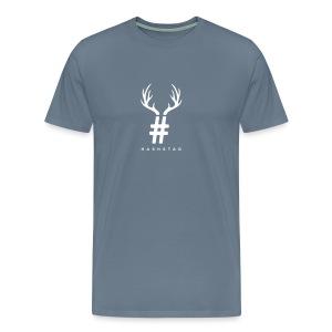 HashStag T-Shirt (Black logo) - Men's Premium T-Shirt