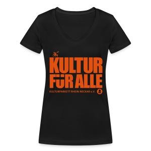 Kultur für Alle - Frauen Bio-T-Shirt mit V-Ausschnitt von Stanley & Stella