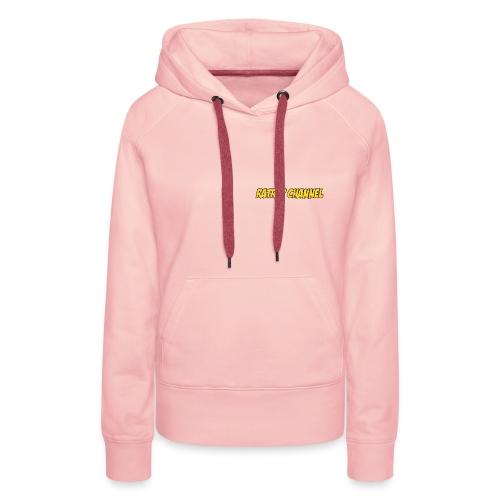 Sweat Capuche Femme Ratrap Channel Rose - Sweat-shirt à capuche Premium pour femmes