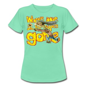 where are all the hippies gone? - Women's T-Shirt
