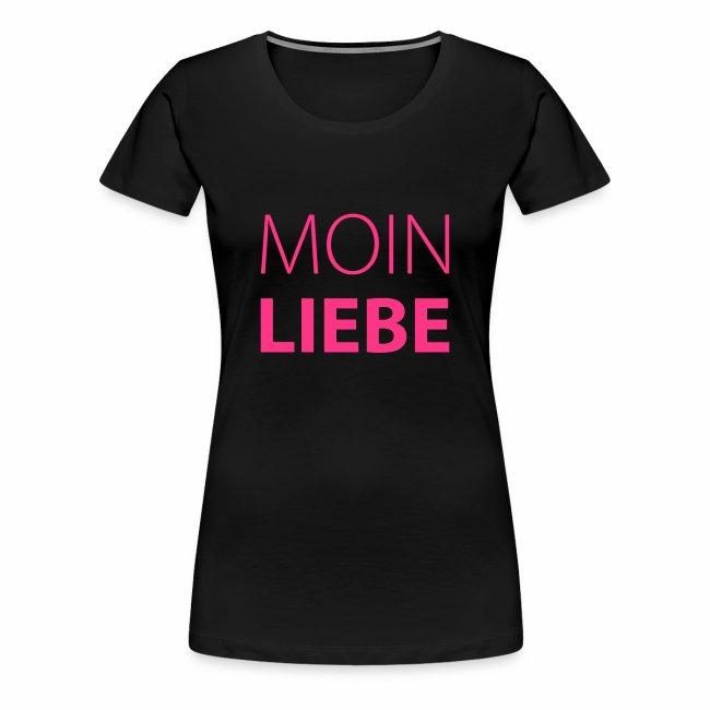Damen T-Shirt Moin Liebe + Vielfaltslogo