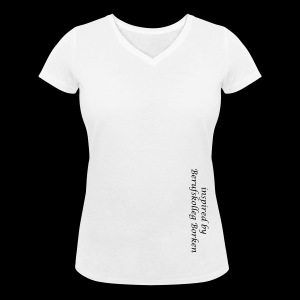Frauen T-Shirt mit V-Ausschnitt, Digitaldirektdruck - Frauen Bio-T-Shirt mit V-Ausschnitt von Stanley & Stella