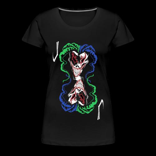 Jester PlayingCard - Female - Frauen Premium T-Shirt
