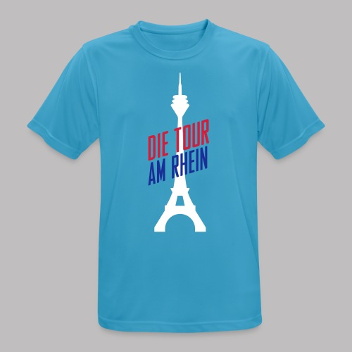 T-Shirt Die Tour am Rhein - blau - Männer T-Shirt atmungsaktiv