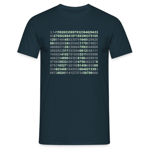 Camiseta PI brilla en la oscuridad - Camiseta hombre