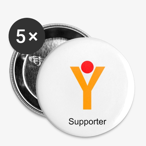 YGOI Supporter Buttons - 5 Stk. - Buttons mittel 32 mm
