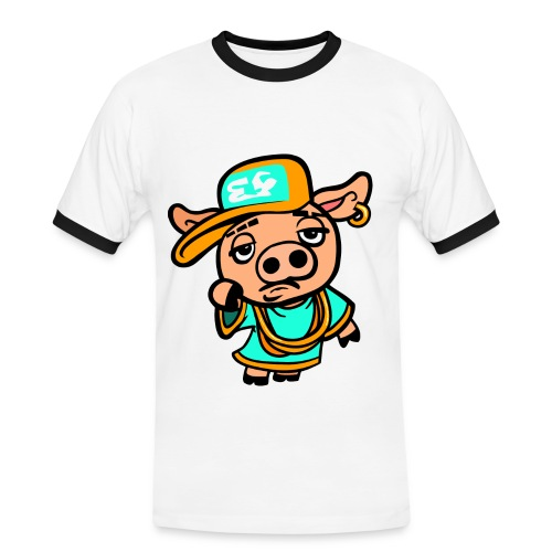 piiggggggggyyyy - Men's Ringer Shirt