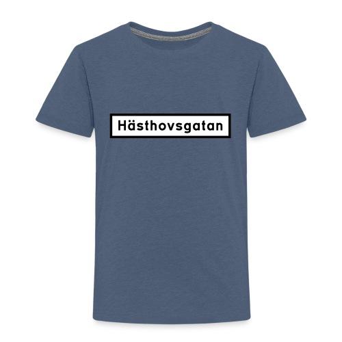Hästhovsgatan gatuskylt - barn - Premium-T-shirt barn