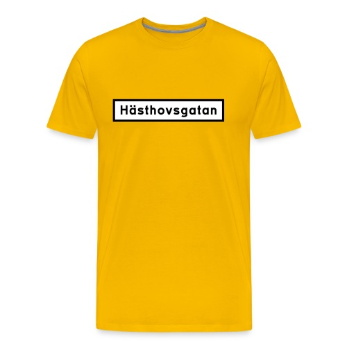Hästhovsgatan gatuskylt - Premium-T-shirt herr