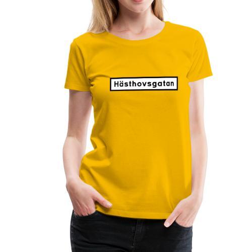 Hästhovsgatan gatuskylt - Premium-T-shirt dam
