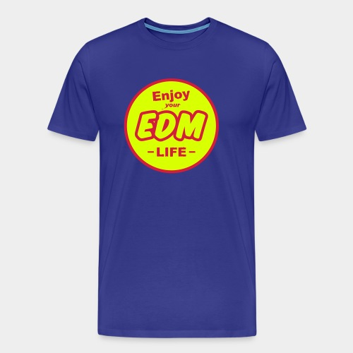 Enjoy EDM Royal Blue/Red/Neon Tee Men - Men's Premium T-Shirt