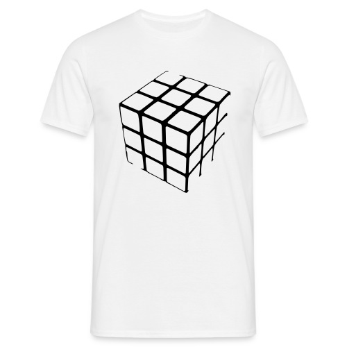 Rubiks kube - T-skjorte for menn